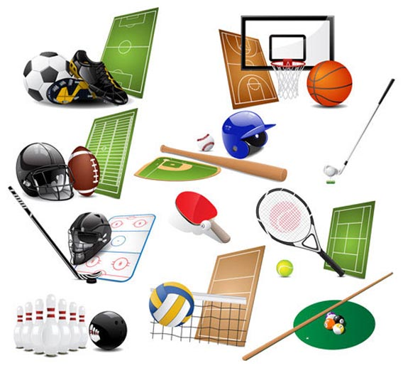 Free Sport Icons Vector Collection Free Vector Graphics
