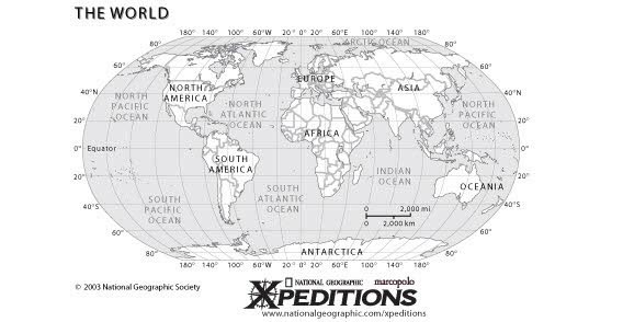 Geographical World map Free Vector Graphics