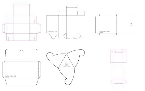 Various package templates Free Vector Graphics