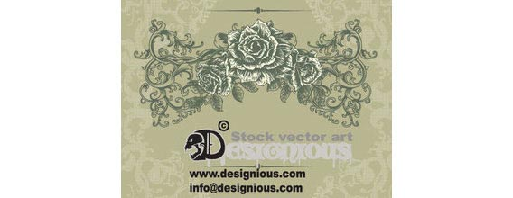 vintage floral illustration Free Vector Graphics