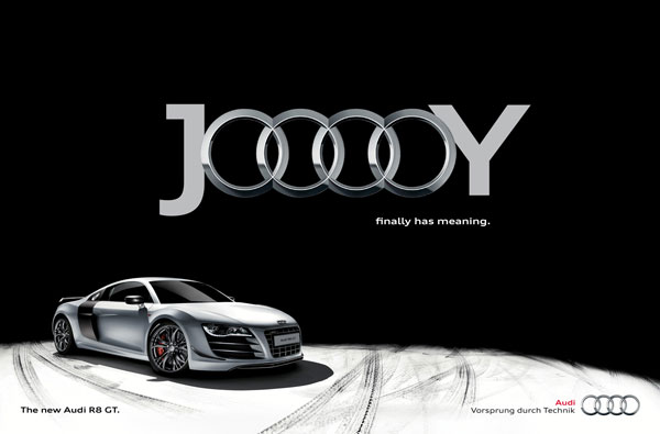 audi_r8_jooooy_black Advertisement Ideas: 500 anuncios creativos y geniales