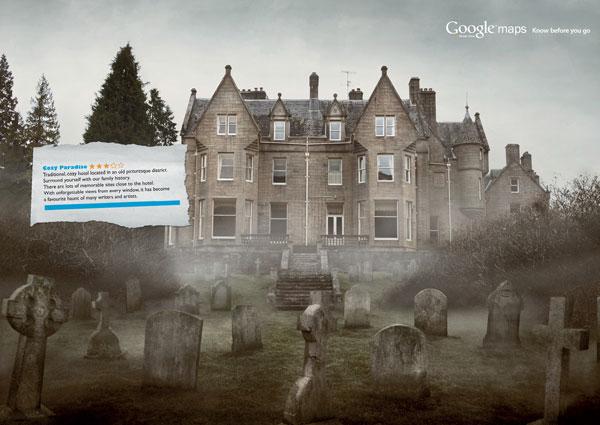 google_maps_street_view_graveyard Ideas de publicidad: 500 anuncios creativos y divertidos