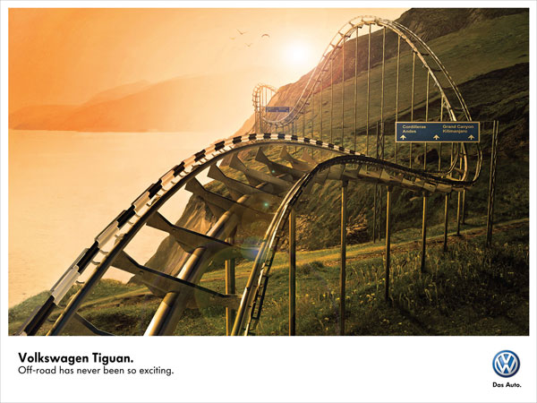 volkswagen_roller_coaster Ideas de publicidad: 500 anuncios creativos y divertidos
