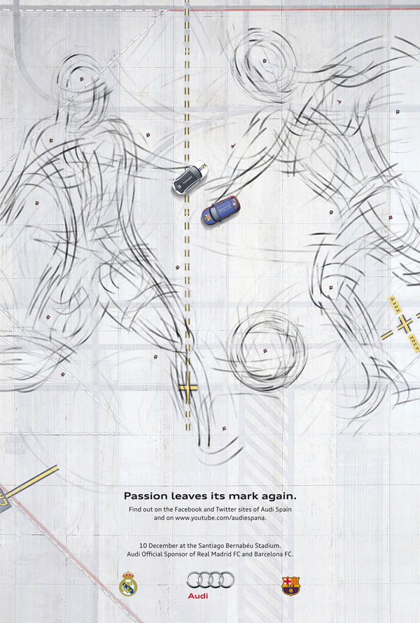 Audi-Passion-leaves-its-mark-again Advertisement Ideas: 500 anuncios creativos y geniales