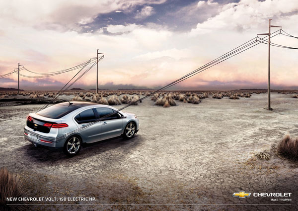New-Chevrolet-Volt-150-electric-HP Advertisement Ideas: 500 creativos y frescos anuncios