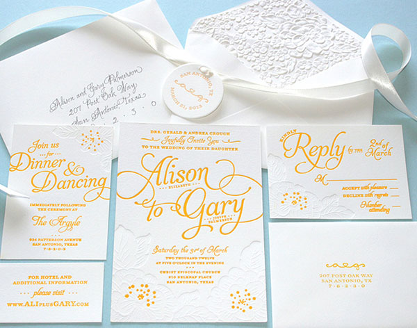 Alison and Gary Wedding Invitation Print Design Inspiration