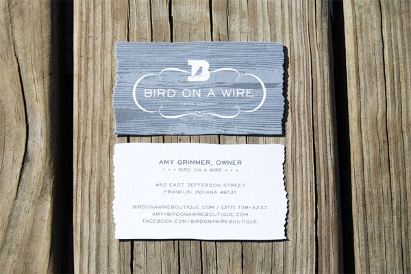 Bird on a Wire Identity Materials Print Design Inspiration