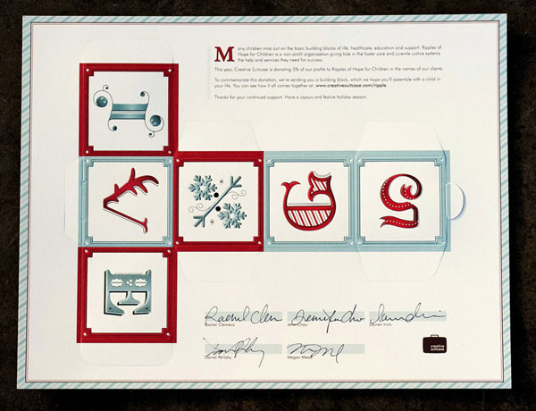 Creative Suitcase Holiday Mailer Print Design Inspiration