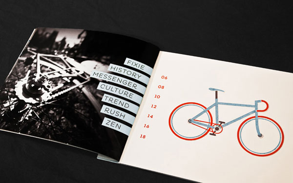 Fixed Gear Bicycle Book Print Design Inspiration