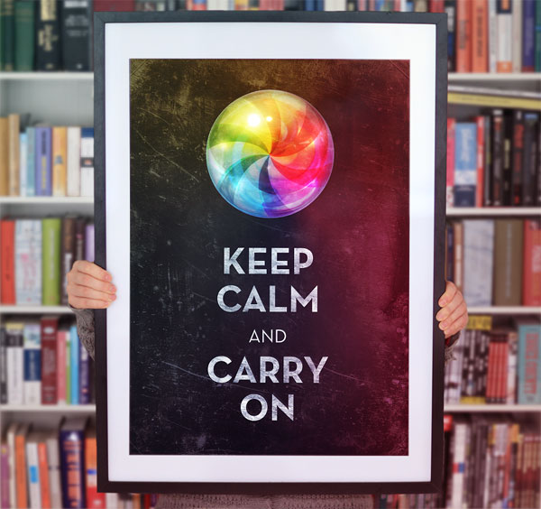 Keep Calm Poster Print Design Inspiration