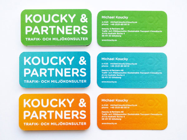 Koucky & Partners Business Cards Print Design Inspiration