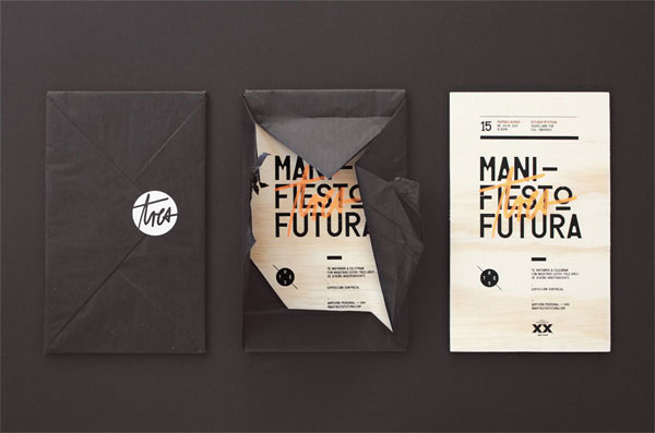 Project Love: Manifiesto Futura Invitation Print Design Inspiration