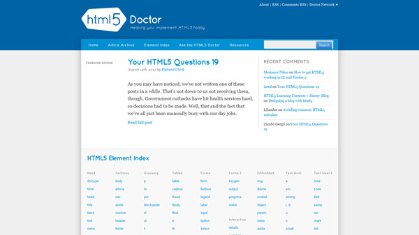 HTML5 Doctor - Helping you implement HTML5 today