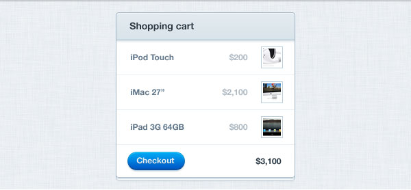 Shopping Cart GUI Free PSD