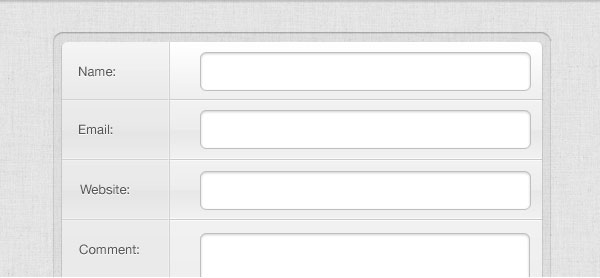 Grey Comment Form GUI Free PSD