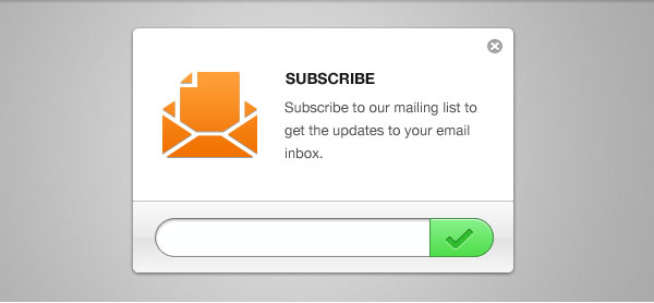 Clean Email Newsletter Subscription Form GUI Free PSD