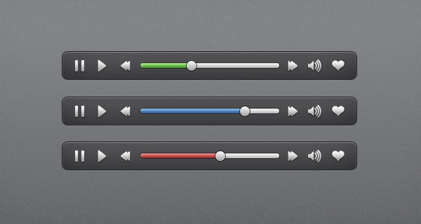 Audio/Video Interface Controls GUI Free PSD