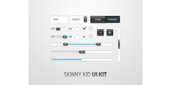 Skinny Kid UI Kit GUI Free PSD