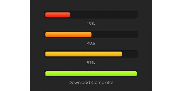 Color Changing Download Progress Bar GUI Free PSD