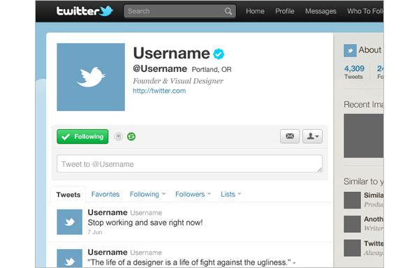 Twitter GUI Free PSD