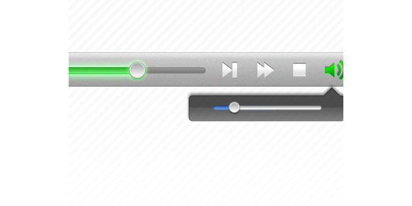 Media Player UI GUI Free PSD
