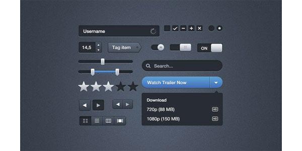 Moonify UI GUI Free PSD