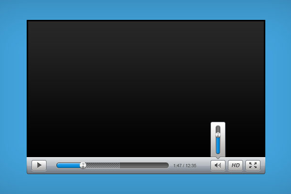 Sleek Video Player GUI Free PSD