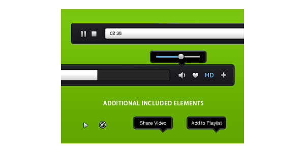 Video Player GUI Free PSD