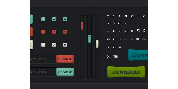 Web elements GUI Free PSD