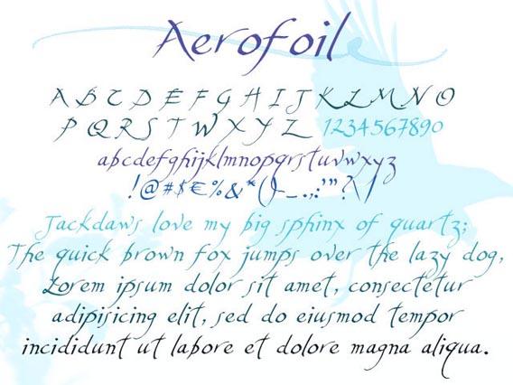 Aerofoil Handwriting And Script Font