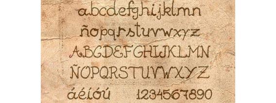 Escuela  Handwriting And Script Font
