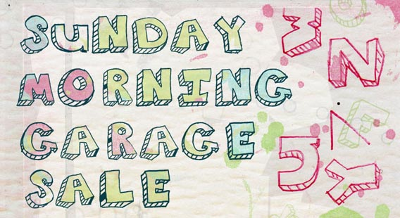 Sunday Morning Garage Sale Handwriting And Script Font