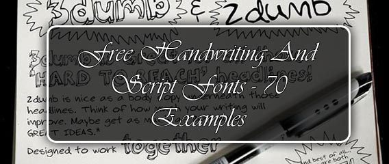 What is a good font that looks like handwriting