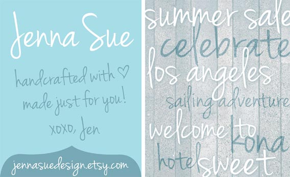 Jenna Sue Handwriting And Script Font