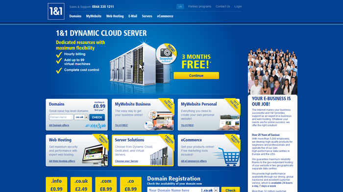 1and1.co.uk Website Hosting Provider