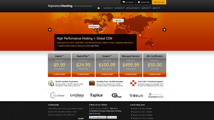 aspirationhosting.com Website Hosting Provider
