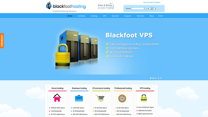 blackfoot.co.uk Website Hosting Provider