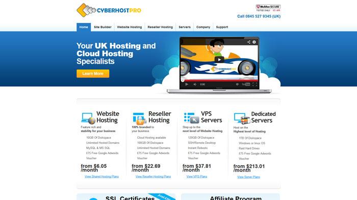cyberhostpro.com Website Hosting Provider