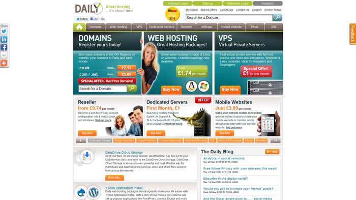 daily.co.uk Website Hosting Provider