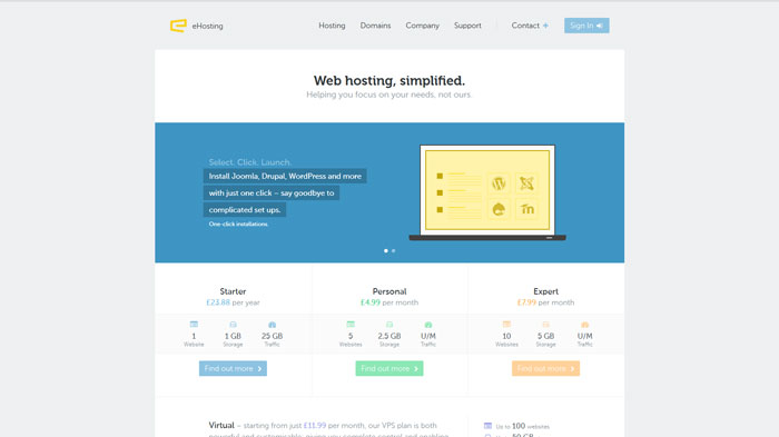 ehosting.com Website Hosting Provider