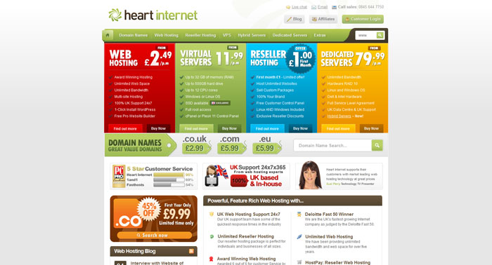heartinternet.co.uk Website Hosting Provider