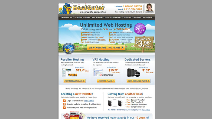 hostgator.com Website Hosting Provider