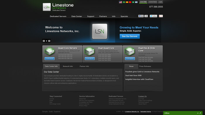limestonenetworks.com Website Hosting Provider
