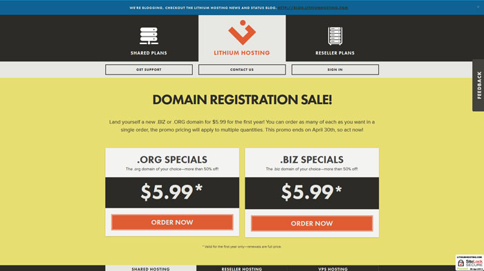 lithiumhosting.com Website Hosting Provider