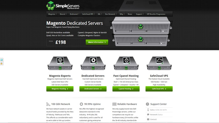 simpleservers.co.uk Website Hosting Provider
