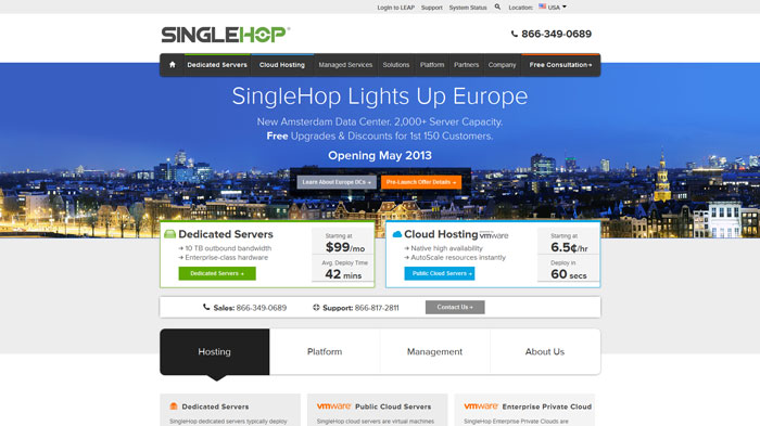 singlehop.com Website Hosting Provider