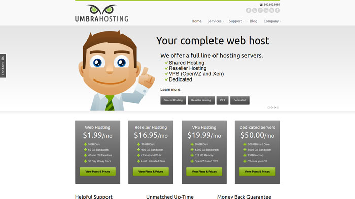 umbrahosting.com Website Hosting Provider