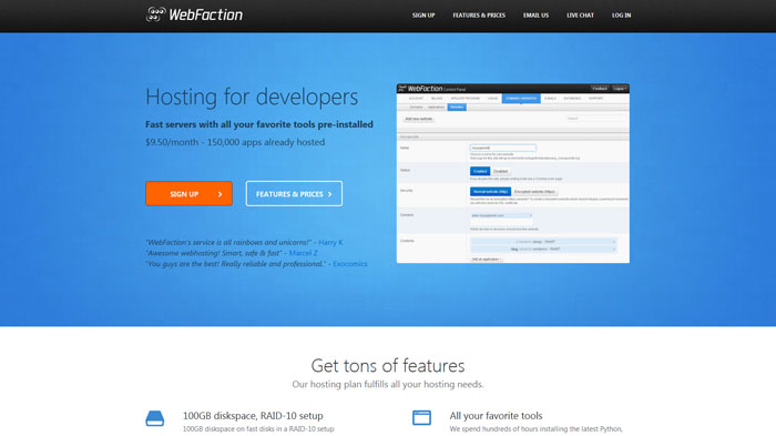 webfaction.com Website Hosting Provider
