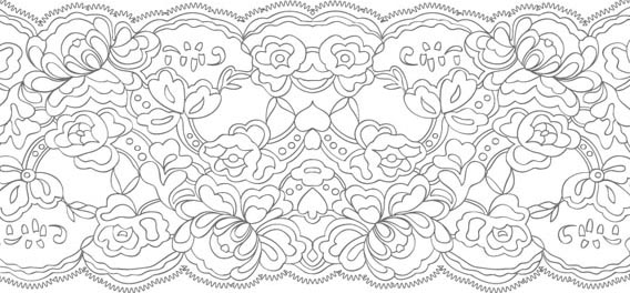Lace Pattern Brush