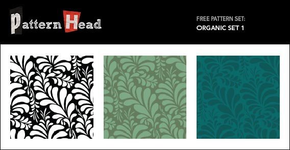 Free Vector and Pixel Repeat Patterns – Organic Set 1
